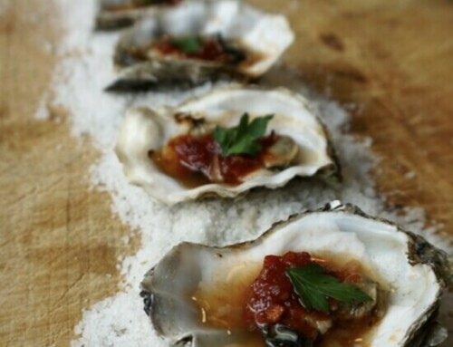 Grilled Farm-Style Oysters