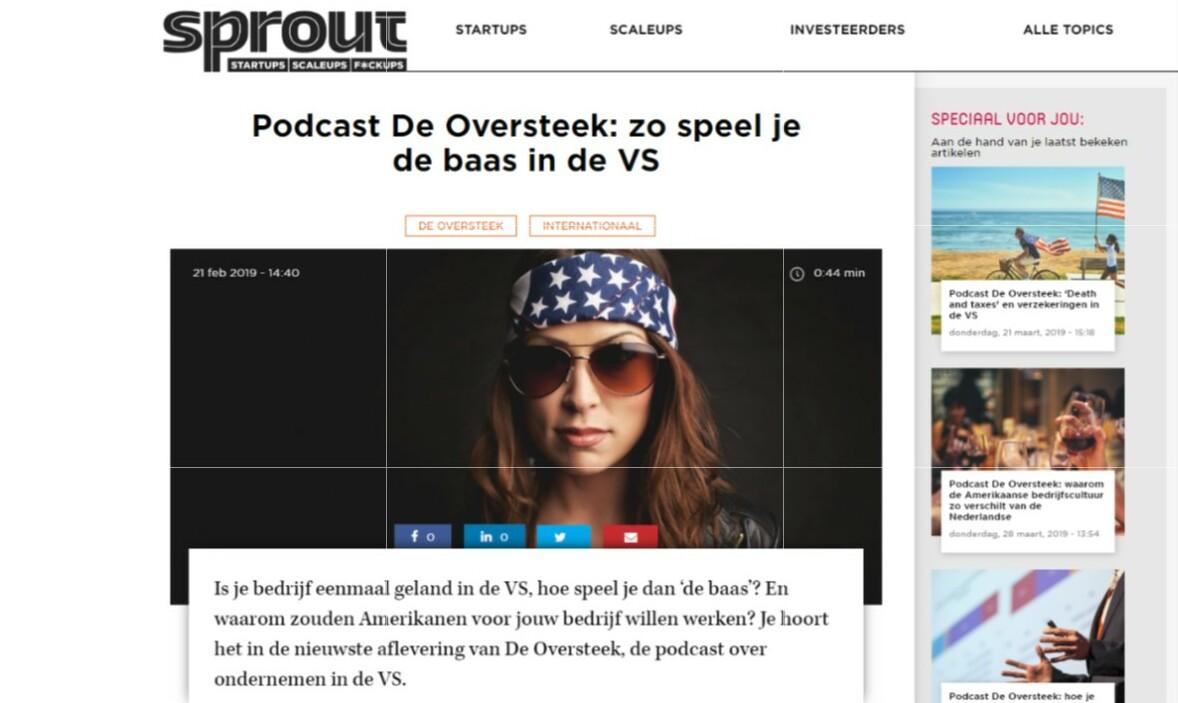 Nieuwsartikel op Sprout over Oestercompagnie collega Angelique