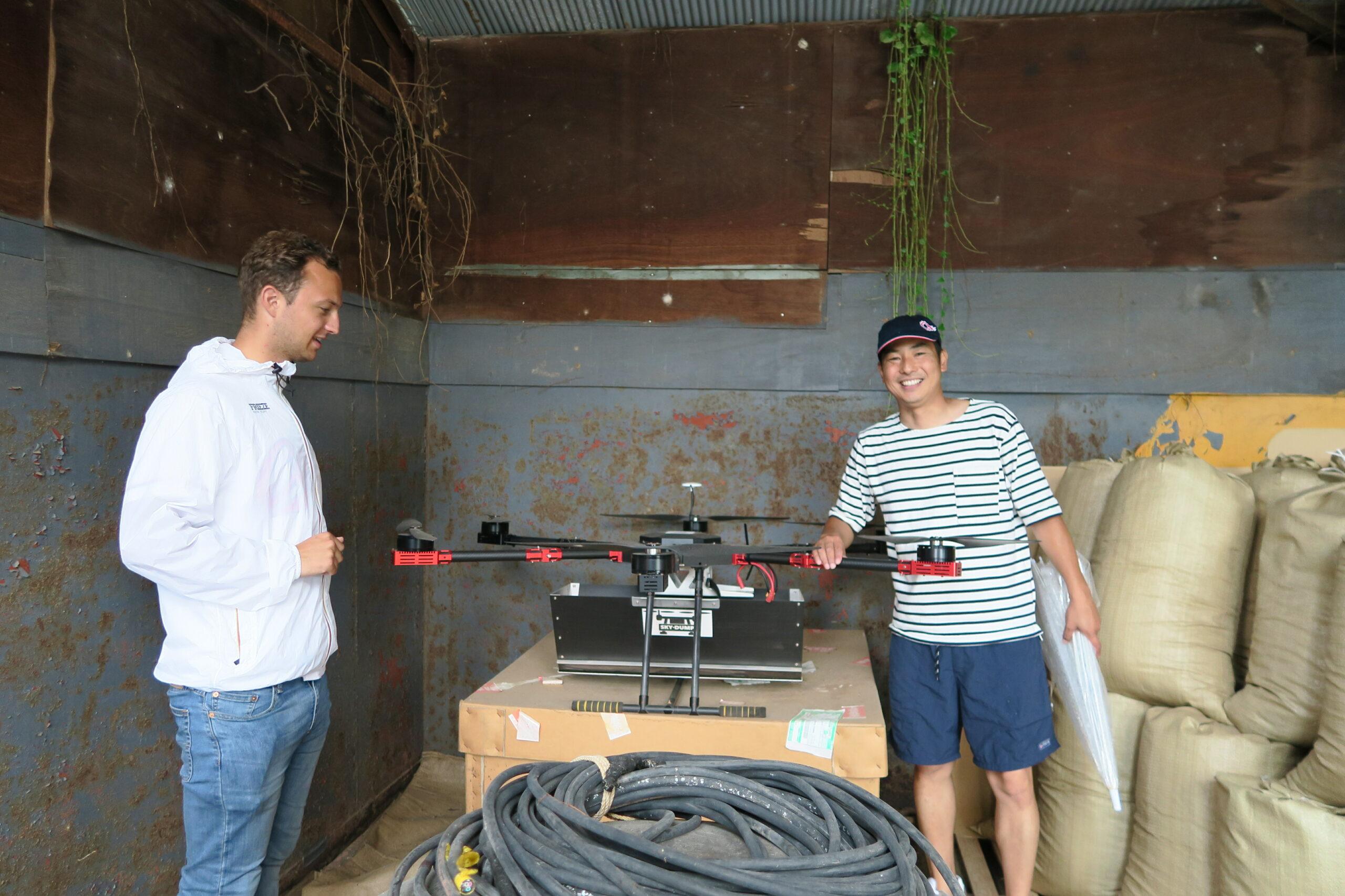 Japanse Oesters en een sinaasappel drone